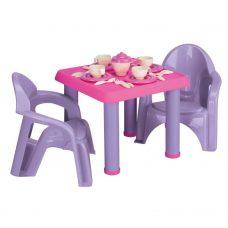 Mesa con 2 Sillas y Juego de Té - American Plastic
