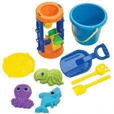 American Plastic - Rueda de Playa Arena y Agua con Accesorios