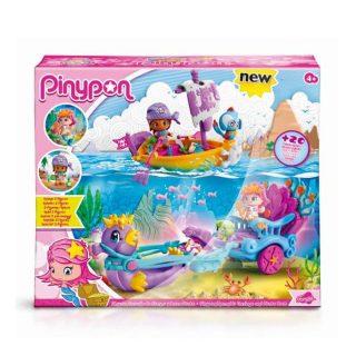 Pinypon - Carruaje de Sirenas y Barco Pirata