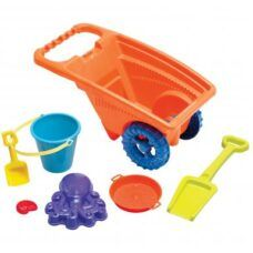 American Plastic - Carretilla con 7 accesorios de playa