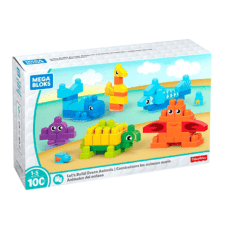 Animales del Océano 100 Pcs - Fisher Price Mega Bloks