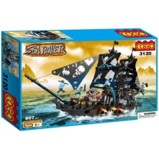Cogo - Barco Pirata Gigante con Accesorios 807 piezas