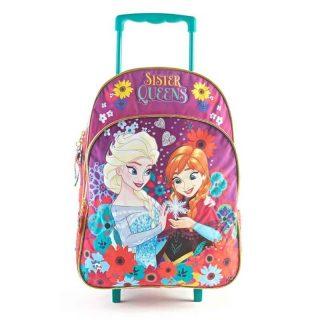 Frozen - Mochila con Carro 40 cm Anna y Elsa Frozen (Violeta)