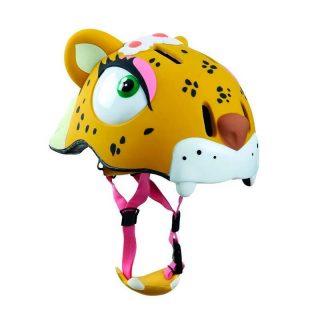 Casco Leoparda con Flor - Crazy Safety