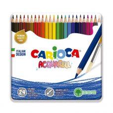 Lápices Acuarelables Acquarell x24 - Carioca