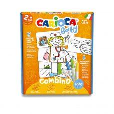 Puzzle de Profesiones x12 Fichas +8 Marcadores - Carioca Baby